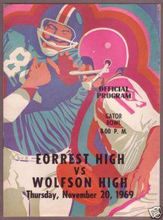 1969 WOLFSON/FORREST High School Football JACKSONVILLE
