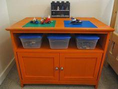 Beach Thrifter Lego Table, Organize Lego, Lego solutions, DIY Lego Table