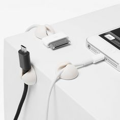These don't-let-me-fall cable drops that prevent your desk crevices from turning into wire hellholes. | 33 Office Supplies That Will Sexually Awaken You