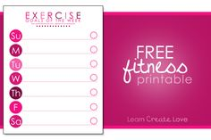 Free printable fitness planners make are a great way to keep track of your food intake and exercise. Set your health goals with a printable fitness planner. Goals Printable, Printable Workouts, Free Printables, Schedule Printable, Printable Planner, Fitness Tracker, Fitness Goals, Fitness Motivation, Exercise Tracker