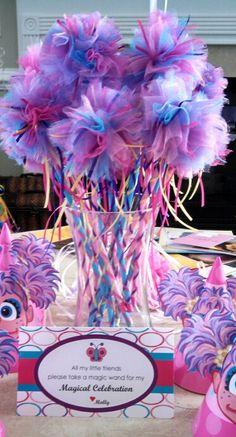 Molly's Abby Cadabby Party, magical wands