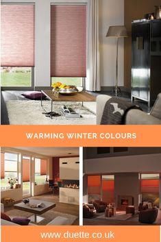 Trendy Home Inspiration Warm Colour Palettes Ideas Contemporary Windows, Contemporary Home Decor, Winter Colors, Warm Colors, Autumn Colours, Living Room Blinds, Home Living Room, Brick Interior, Home Interior Design