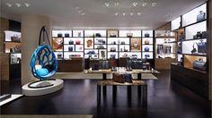 Louis Vuitton store renewal by Jun Aoki and Peter Marino, Hong Kong Visual Merchandising, Louis Vuitton Store, Retail Windows, Branding, Retail Space, Mondrian, Design Furniture, Retail Design, Stores