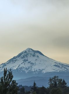 Mt. Hood came out to play this morning in Oregon City.