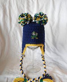 7f284b28d2b Notre Dame Football Little Cheerleader Baby Crochet by CDBSTUDIO