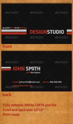 Business card no15 fonts company and 2 personall business card reheart Images