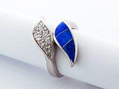Blue Opal Ring with CZs Blue Opal Ring, Opal Rings, Gemstone Rings, Women's Jewelry, Womens Jewelry Rings, Sterling Silver Bracelets, Middle, Jewels, Amazing