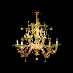 Murano glass chandelier Ca Rezzonico , factory prices directly from Venice Glass Chandelier, Chandeliers, Oil Lamps, Ancient Art, Murano Glass, Eye Candy, Ceiling Lights, Pure Products, Lighting