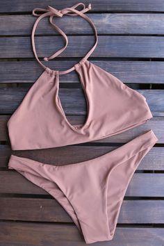 - made with love, in the USA - buttery soft! - Beautiful color - self lined bikini - unpadded - seamless key hole top - cheeky seamless bottom