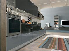 Colombini Lungomare Konyhabútor Modern Kitchen Furniture Dark Grey