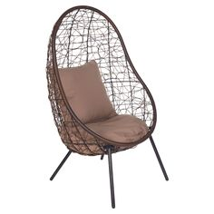 Del Terra Steel Wicker Egg Single Seater Chair - Masters Home Improvement