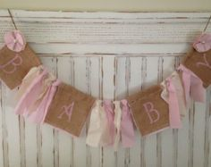 Baby girl, Shabby chic burlap baby banner, baby girl banner, baby, nursery decor, home decor, baby sign, baby announcement, rustic decor
