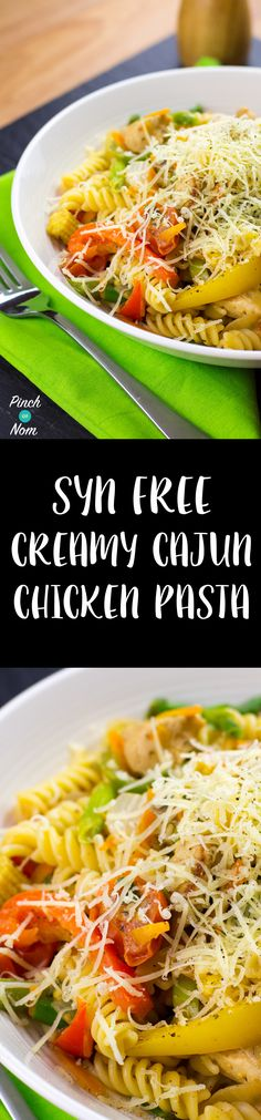 Syn Free Creamy Cajun Chicken Pasta | Slimming World - http://pinchofnom.com/recipes/syn-free-creamy-cajun-chicken-pasta-slimming-world/