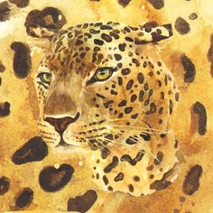 Camouflage leopard, leopard, wildlife, african decor, animal paintings, leopard design, Art Print