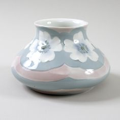 Swedish Art Nouveau Porcelain Vase by Rörstrand.  Available exclusively at Macklowe Gallery.