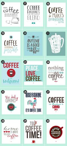 180 Coffee Free Printables: The Ultimate Guide Little Gold Pixel Find the motherlode of curated coffee printables here. Click through to see more! Coffee Signs, Coffee Art, Coffee Poster, Coffee Type, Espresso Coffee, Black Coffee, Vinyl Projects, Craft Projects, Project Ideas