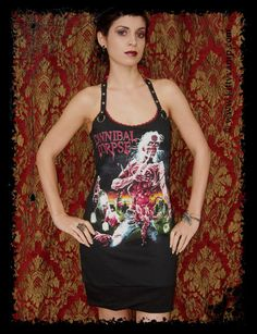 Cannibal Corpse Eaten Back Death Metal Rock Halter Mini Dress S M L XL. $39.99, via Etsy.