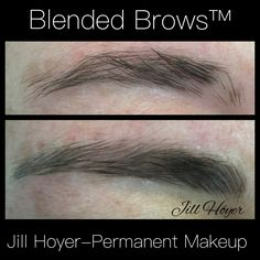 Brows restored to natural. Microstroking and shading techniques.