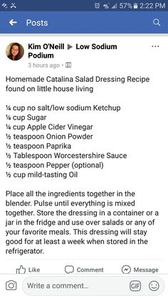It's got highly effective anti-inflammatory, anti-cancer and also antioxidant benefits, as well as it includes vitamins and minerals that come with detox-support together with a lot of different essential nutrients this promote beneficial health. Catalina Dressing Recipes, Catalina Salad Dressing, Low Sodium Diet Plan, Low Sodium Recipes, Sodium Foods, Diet Salad Recipes, Salad Dressing Recipes, Salad Dressings, Matcha Benefits