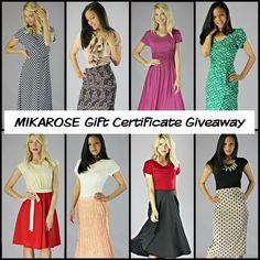 MIKAROSE Gift Certificate Giveaway! 1. Repin this image 2. Comment what your FAVORITE thing about MIKAROSE is. Ends Friday 9 AM MST. Winner will be announced via the Blog! Winner will receive a $50 gift certificate from MIKAROSE via email that can be used ONLINE! :) (ONE ENTRY PER PERSON)