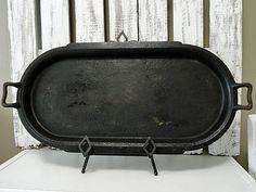 Vintage Cast Iron Oval Griddle