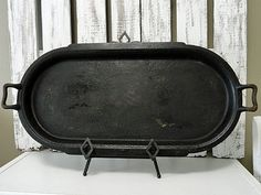Vintage Cast Iron Oval Griddle