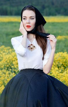 Ulyana Sergeenko is a classic masterpiece in this shot.