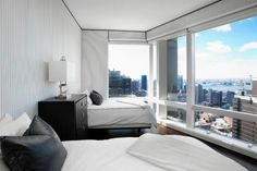 New York, NY apartment in Hell's Kitchen. Feel on top of the world right from your bedroom with these amazing views.