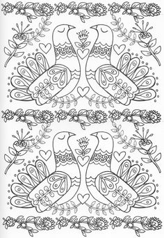 Scandinavian Embroidery Image Only. Pattern Coloring Pages, Cute Coloring Pages, Doodle Coloring, Animal Coloring Pages, Mandala Coloring, Adult Coloring Pages, Coloring Sheets, Coloring Books, Scandinavian Folk Art