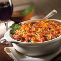 "Maggiano's Baked Ziti and Sausage Casserole - Maggiano's Little Italy is an American casual dining restaurant specializing in Italian-American cuisine that is aimed at ""re-creating the classic pre-World War II dinner house featuring family size portions""."