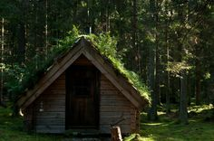 the charcoalers hut in the Wood Hermitage, Sweden