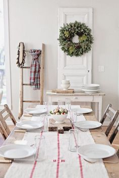 An antique door is a beautiful backdrop for your holiday buffet #decor #NapaValleyHoliday