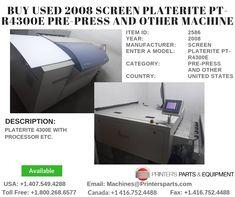 PlateRite with Processor Printer, Printers