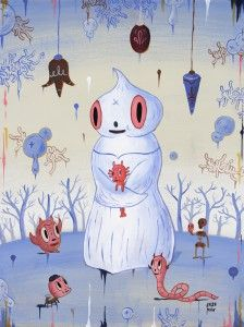 <strong>Winter Magi</strong> (2005) Acrylic on Wood Panel,   18 x 24 inches,