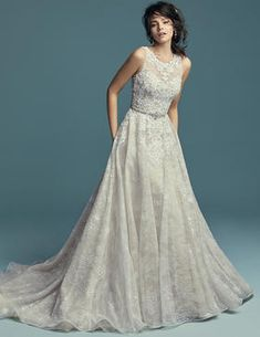91dcb60f64ae Astra Bridal Maggie Sottero Elegant Wedding Dress, Dream Wedding Dresses, Bridal  Dresses, Size