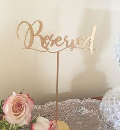 Set Of 10 Reserved Wedding Table Signs For Event