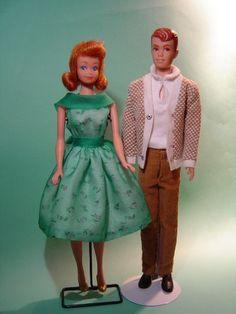 "I had Midge, how sad, compared to ""BARBIE"" no wonder she is not still around. LOL   1965 - Alan & Midge"