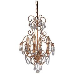 "Minka Lavery French Silver 11"" Wide Mini Chandelier - #83372 
