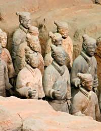 Small Portion of The Terra cotta Army of Emperor Qin.