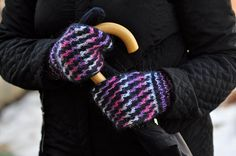 Mittens, Knitted Mittens, Black Melange Mittens, Chunky Mittens, Merino Wool & Mohair Mittens, Winter is Coming, Christmas Present