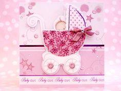 Baileys Card Making Shop — New Baby Girl Handmade Card
