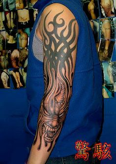cool #totem #tattoo on the arm