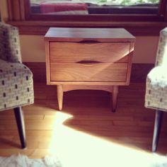 Danish teak side table (stripped, re-oiled).