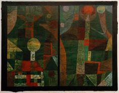 Bild: Paul Klee - Landschaft in Gruen mit roten
