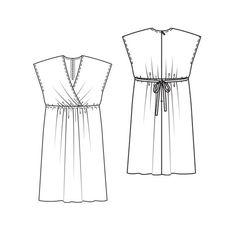 Sleeveless dress with drawstring detail