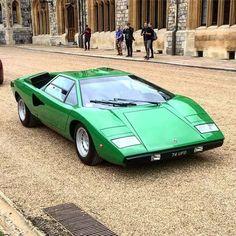 The Lamborghini Countach is a mid-engined, V12 sports car