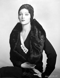 Myrna Loy striking a pose
