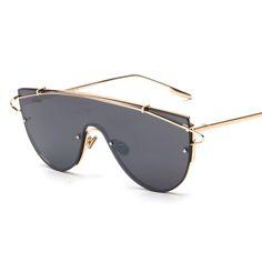 Special Integrated Men Women Sunglasses Mirrored Lenses Designer Brand New Glasses Oculos De Sol Retro Korean Style Fashion