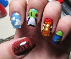 Toy Story. :D these are even cuter than the other set!! you ALWAYS have to incorporate the boot!!