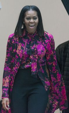 Michelle Obama's Just Wearing a Simple Tunic — Until You Spy Her Layering Hack
